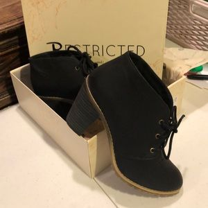 Black ankle boots by Restricted size8 med